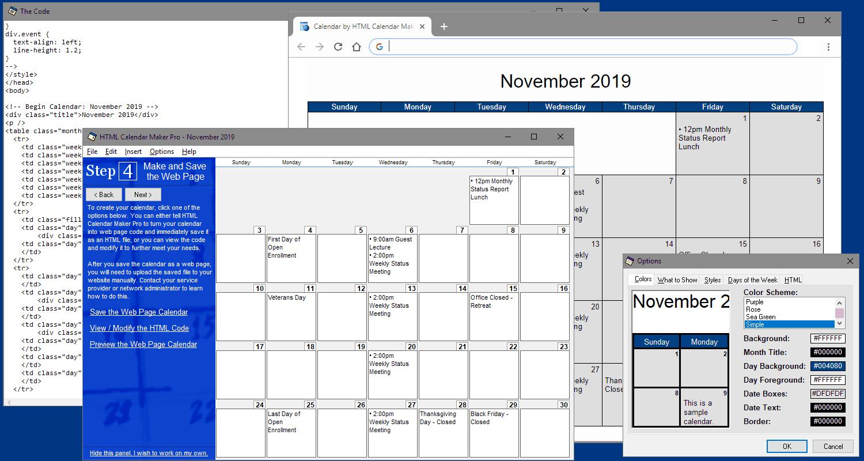 Download HTML Calendar Maker Pro for Windows